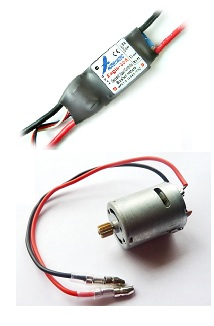 as you can see, a brushed motor more or less runs itself mechanically as  long as voltage is applied  to control how fast the motor spins a brushed  esc