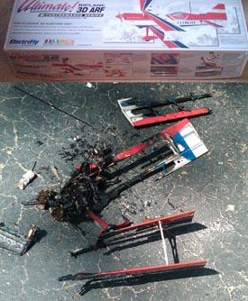 Lipo plane fire
